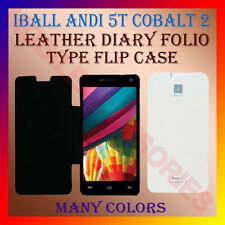 ACM-LEATHER DIARY FOLIO FLIP FLAP CASE for IBALL ANDI 5T COBALT 2 MOBILE COVER