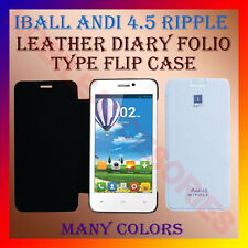 ACM-LEATHER DIARY FOLIO FLIP FLAP CASE for IBALL ANDI 4.5 RIPPLE MOBILE COVER