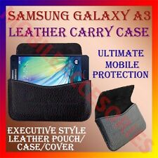 ACM-HORIZONTAL LEATHER CARRY CASE for SAMSUNG GALAXY A3 MOBILE POUCH COVER CASE