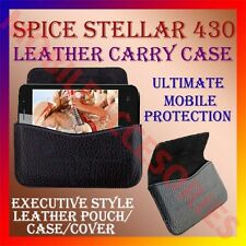 ACM-HORIZONTAL LEATHER CARRY CASE for SPICE STELLAR 430 MOBILE POUCH COVER CASE