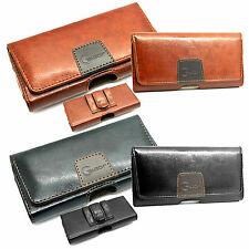 New Genuine Belt Clip Loop Leather Holster Pouch Case Cover for Mobile Phones L