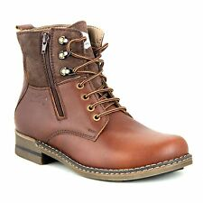 LEE FOG BRANDED LEATHER BOOTS IN  BROWN/TAN MID ANKLE MRP 3495 50% DISCOUNT 1745