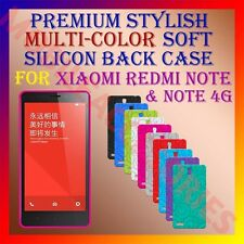 ACM-PREMIUM COLOR SOFT SILICON BACK CASE for XIAOMI REDMI NOTE & NOTE 4G COVER