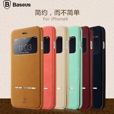 Baseus Touch Sense Window Leather Flip Case Cover Stand For Apple iPhone 6 6S