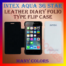 ACM-LEATHER DIARY FOLIO FLIP CASE of INTEX AQUA 3G STAR MOBILE FRONT BACK COVER