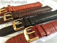 XXL EXTRA LONG LUXURY 18mm-24mm CROCODILE GRAIN LEATHER WATCH STRAP SEIKO style