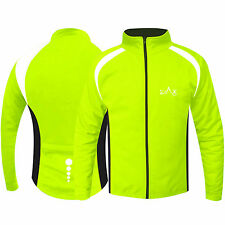 Cycling Jacket Windproof Bicycle Jersey Cycle Cold Weather Jacket HI VIZ