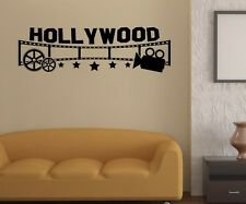 Hollywood Kino Wandtattoo Wandaufkleber Kamera Wand Sticker Film Aufkleber 5S055