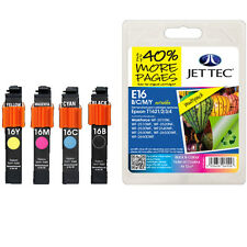 JETTEC BRAND HIGH QUALITY REMANUFACTURED EPSON (NON GENUINE) INK CARTRIDGES 16XL
