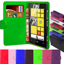 PU Leather Book Wallet Magnetic Flip Phone Case Cover For Nokia Lumia 520
