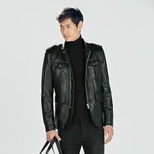 ZARA Man Authentic BNWT Black Leather Jacket Blazer M L XL 0706318 RRP £89.99