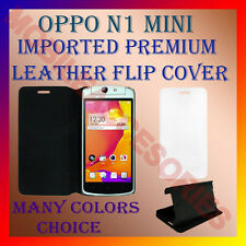 ACM-MULTI-COLOR IMPORTED PREMIUM LEATHER CASE for OPPO N1 MINI FLIP FLAP COVER