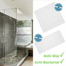 ANTIBACTERIAL WHITE RUBBER EXTRA GRIP LONG SUCTION NON SLIP BATH SHOWER MAT