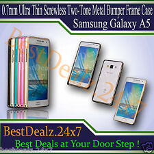 0.7mm Ultra Thin Screwless Two-Tone Metal Bumper Frame Case - Samsung Galaxy A5