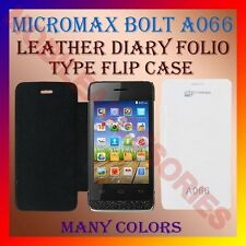 ACM-LEATHER DIARY FOLIO FLIP FLAP CASE for MICROMAX BOLT A066 FRONT/BACK COVER