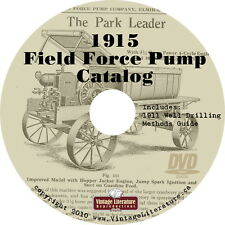 1915 Field Force Pump Catalog { Antique Farm & Industrial Machinery } on DVD