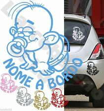 Adesivo personalizzato BIMBO A BORDO BABY ON BOARD BIMBA tuning STICKERS VINILE