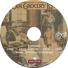 Sears Vintage Grocery Catalogs {1907 ~ 1913 ~ 1918 ~ 1919 ~ 1926} on DVD