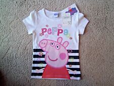 Official Peppa Pepper Pig Short Sleeve Top, T-Shirt, Vest Top BNWT 2-8 Years