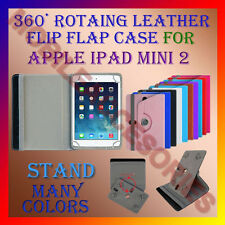 """ACM-ROTATING 360° LEATHER FLIP STAND COVER 8"""" CASE for APPLE IPAD MINI 2 TABLET"""
