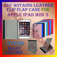 """ACM-ROTATING 360° LEATHER FLIP STAND COVER 8"""" CASE for APPLE IPAD MINI 3 TABLET"""