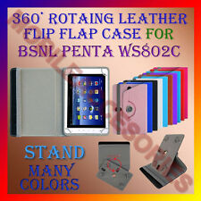 "ACM-ROTATING 360° LEATHER FLIP STAND COVER 8"" CASE for BSNL PENTA WS802C TABLET"