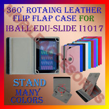 "ACM-ROTATING 360° LEATHER FLIP STAND COVER 10"" CASE for IBALL EDU-SLIDE i1017"