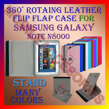 "ACM-ROTATING 360° LEATHER FLIP STAND COVER 10"" CASE of SAMSUNG GALAXY NOTE N8000"