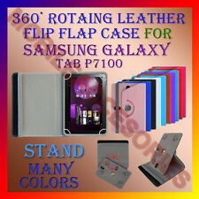 "ACM-ROTATING 360° LEATHER FLIP STAND COVER 10"" CASE for SAMSUNG GALAXY TAB P7100"