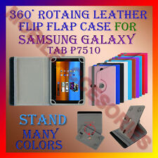 "ACM-ROTATING 360° LEATHER FLIP STAND COVER 10"" CASE for SAMSUNG GALAXY TAB P7510"