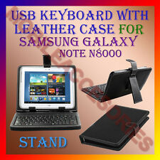 """ACM-USB KEYBOARD 10"""" CASE for SAMSUNG GALAXY NOTE N8000 TAB LEATHER COVER STAND"""