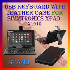 "ACM-USB KEYBOARD 10"" CASE for SIMMTRONICS XPAD X1010 TABLET LEATHER COVER STAND"