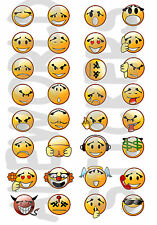 ADESIVI STICKERS PICCOLI mini EMOTICONS SMILEY DECORATIVI MULTIUSO BUSTINA 10x14