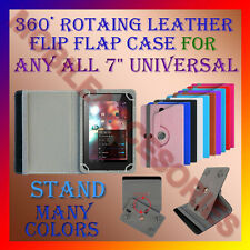 "ACM-ROTATING 360° LEATHER FLIP STAND COVER 7"" CASE for ANY ALL 7"" UNIVERSAL TAB"