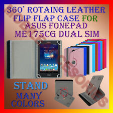 "ACM-ROTATING 360° LEATHER FLIP STAND COVER 7"" CASE for ASUS FONEPAD ME175CG TAB"
