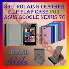 """ACM-ROTATING 360° LEATHER FLIP STAND COVER 7"""" CASE for ASUS GOOGLE NEXUS 7C TAB"""