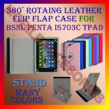 """ACM-ROTATING 360° LEATHER FLIP STAND COVER 7"""" CASE for BSNL PENTA IS703C TPAD"""