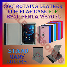 "ACM-ROTATING 360° LEATHER FLIP STAND COVER 7"" CASE for BSNL PENTA WS707C TABLET"