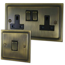 G&H Brassware Victorian Antique Brass Sockets and Switches - Full Range