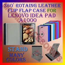 """ACM-ROTATING 360° LEATHER FLIP STAND COVER 7"""" CASE for LENOVO IDEA PAD A1000 TAB"""