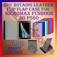 """ACM-ROTATING 360° LEATHER FLIP STAND COVER 7"""" CASE for MICROMAX FUNBOOK 3G P560"""