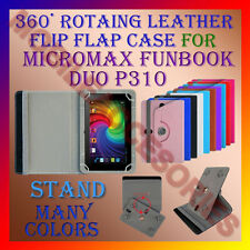 "ACM-ROTATING 360° LEATHER FLIP STAND COVER 7"" CASE for MICROMAX FUNBOOK DUO P310"