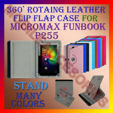 "ACM-ROTATING 360° LEATHER FLIP STAND COVER 7"" CASE for MICROMAX FUNBOOK P255 TAB"