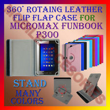 "ACM-ROTATING 360° LEATHER FLIP STAND COVER 7"" CASE for MICROMAX FUNBOOK P300 TAB"