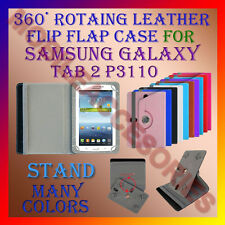 "ACM-ROTATING 360° LEATHER FLIP STAND COVER 7"" CASE for SAMSUNG TAB 2 P3110 TAB"