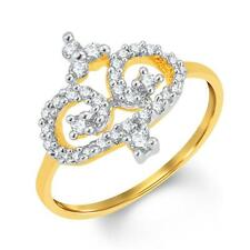 Sukkhi Classy Gold and Rhodium Plated Cubic Zirconia Ring(8016RCZC460)