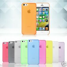 iPhone 5C Ultra Slim Thin 0.33mm Matte Frosted Transparent Soft PP Cover Case