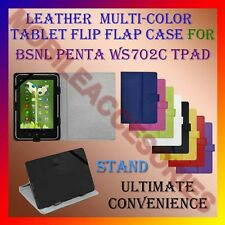 "ACM-LEATHER FLIP FLAP MULTI-COLOR 7"" COVER & STAND for BSNL PENTA WS702C TPAD"