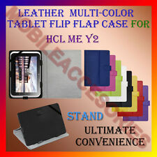 "ACM-LEATHER FLIP FLAP MULTI-COLOR 7"" COVER & STAND for HCL ME Y2 TABLET HOLDER"