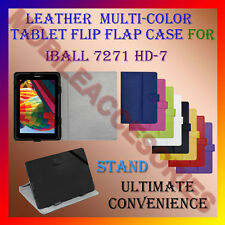 """ACM-LEATHER FLIP FLAP MULTI-COLOR 7"""" COVER & STAND for IBALL 7271 HD-7 TABLET"""
